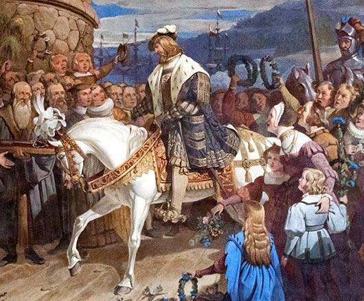 Густав Васа в Стокгольме в 1523 году