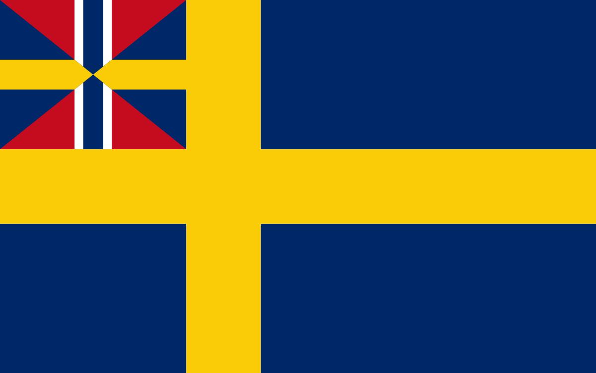 Флаг шведско-норвежской унии (1844-1905 гг)