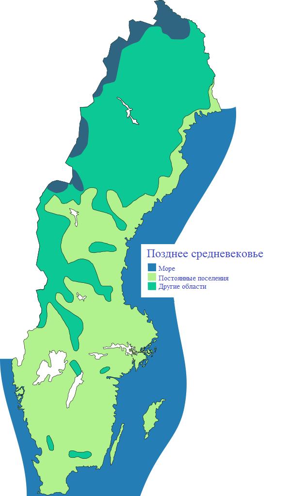 Шведские поселения в период позднего средневековья