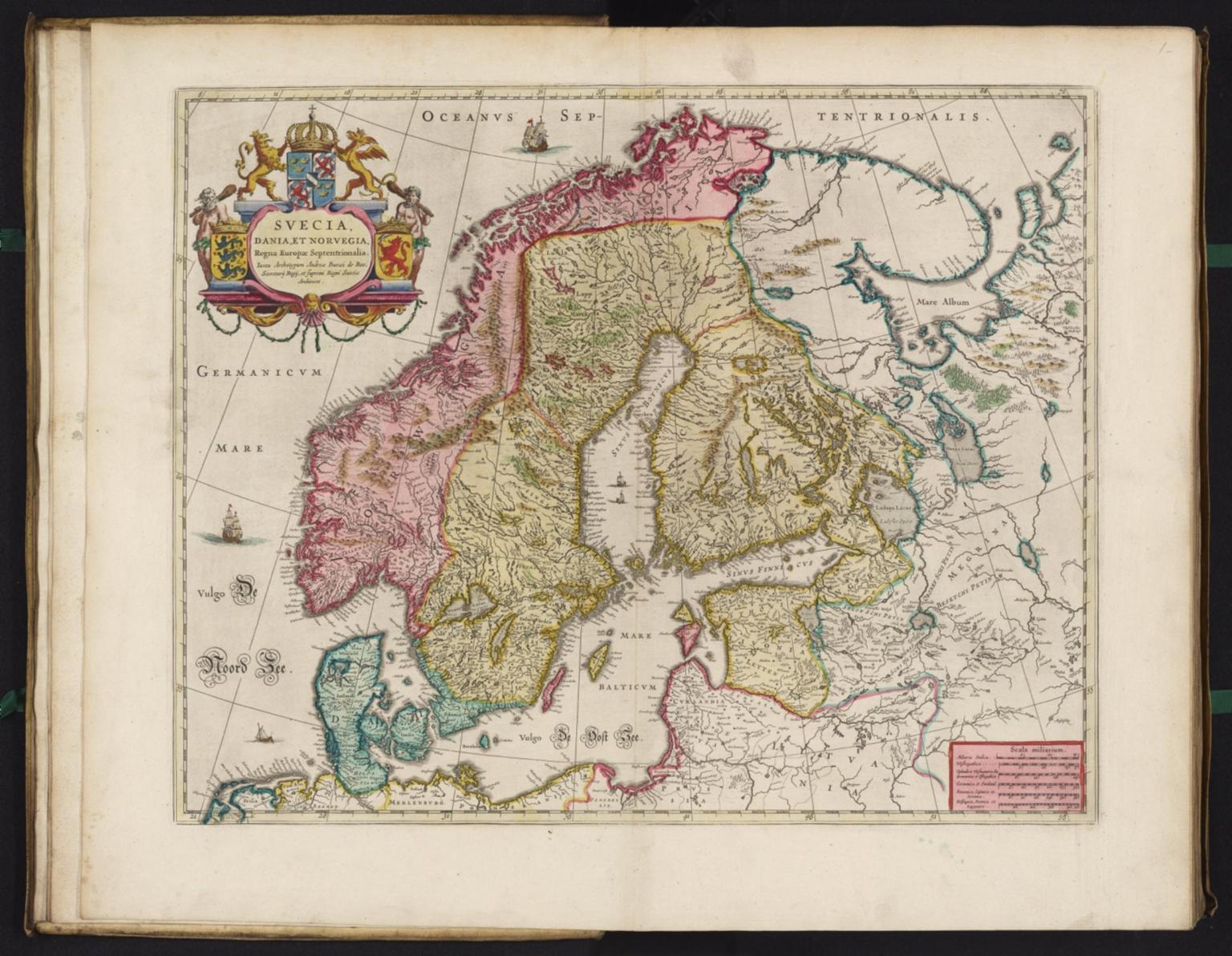 Карта Швеции в 1665 году