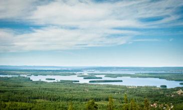 100 крупнейших озер Швеции
